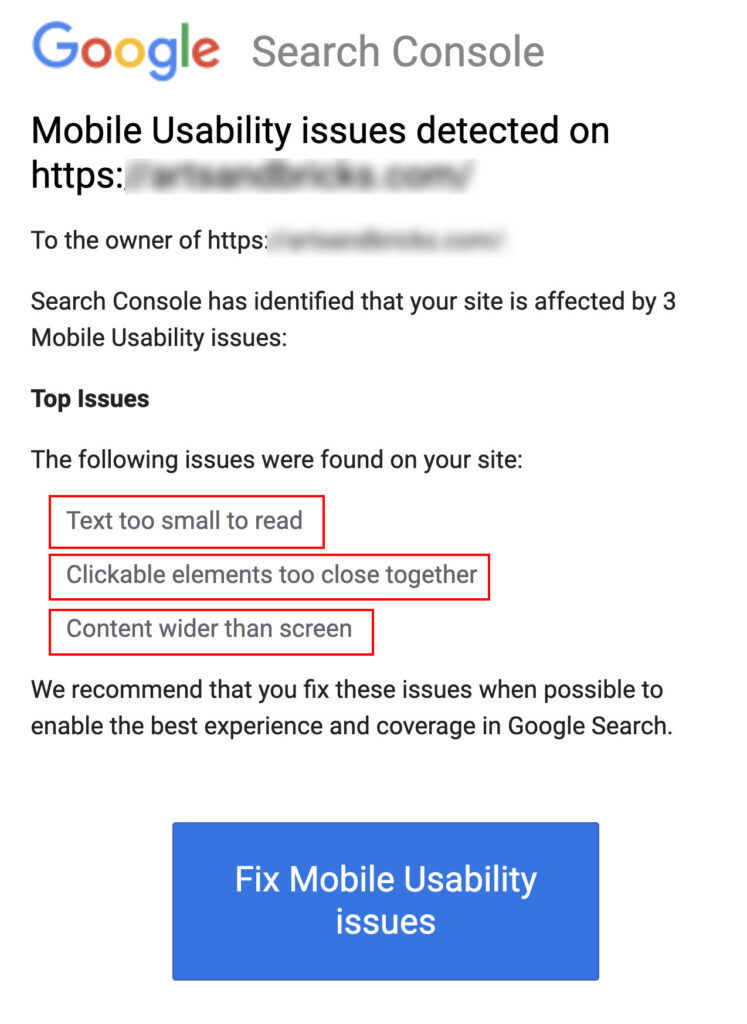 Fixing Mobile Usability Issues detected from Google Search Console